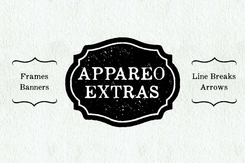 Appareo Extras Decorative Font-1