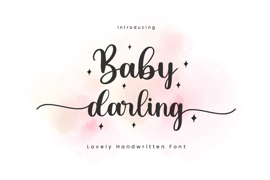 Baby Darling Calligraphy Font-1