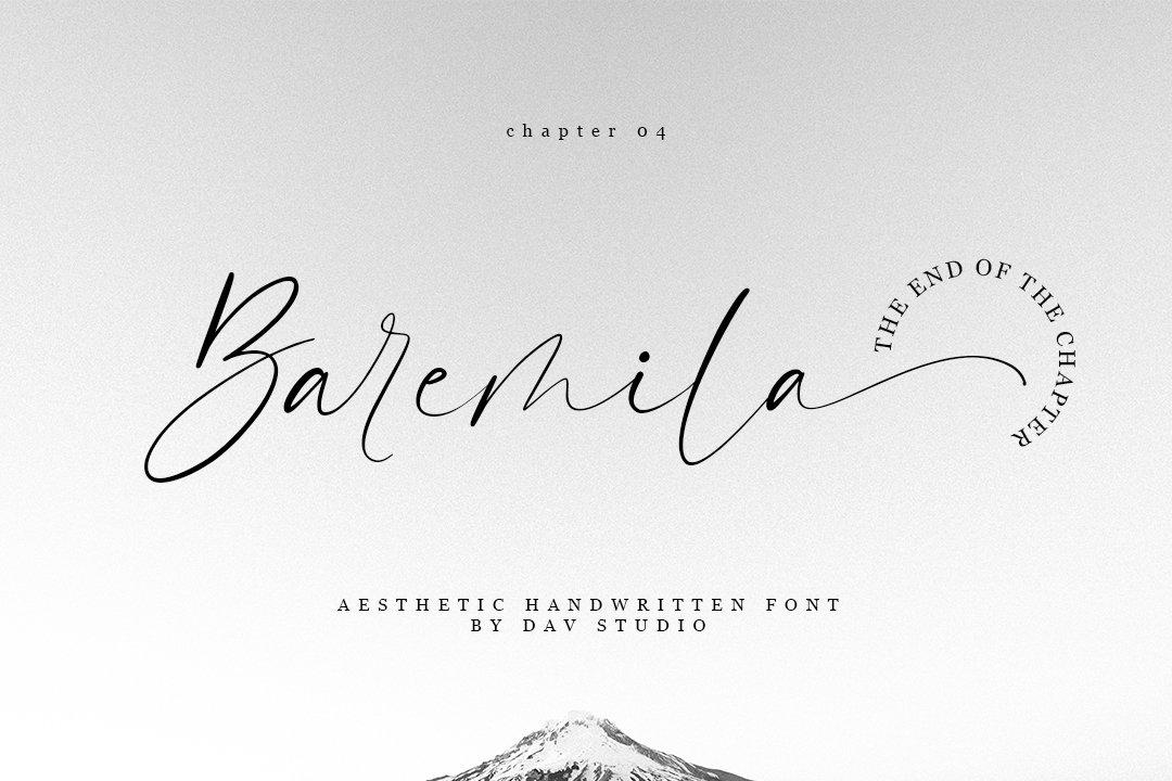 Baremila - Aesthetic Handwritten Font-1