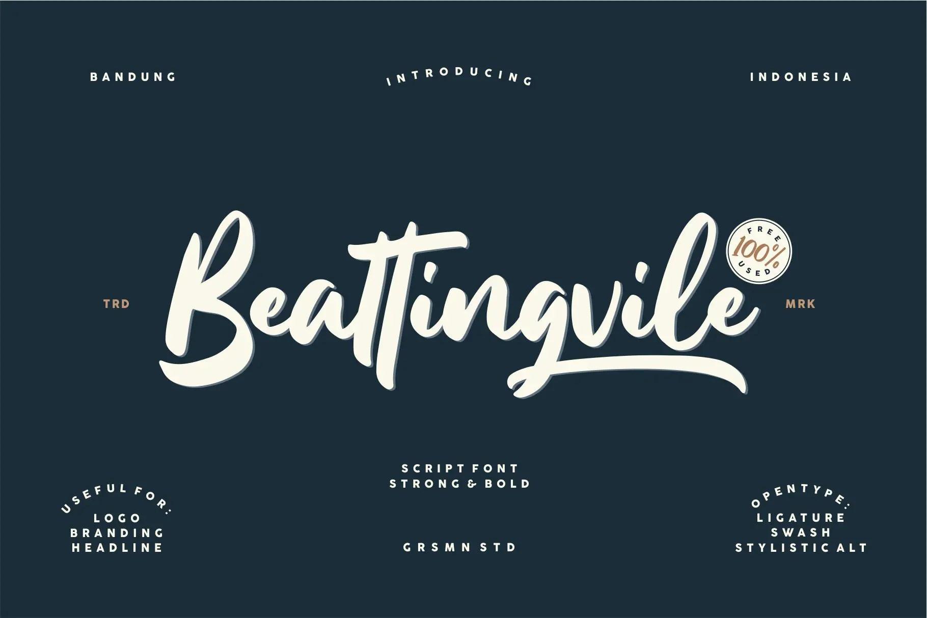 Beattingvile Brush Font-1