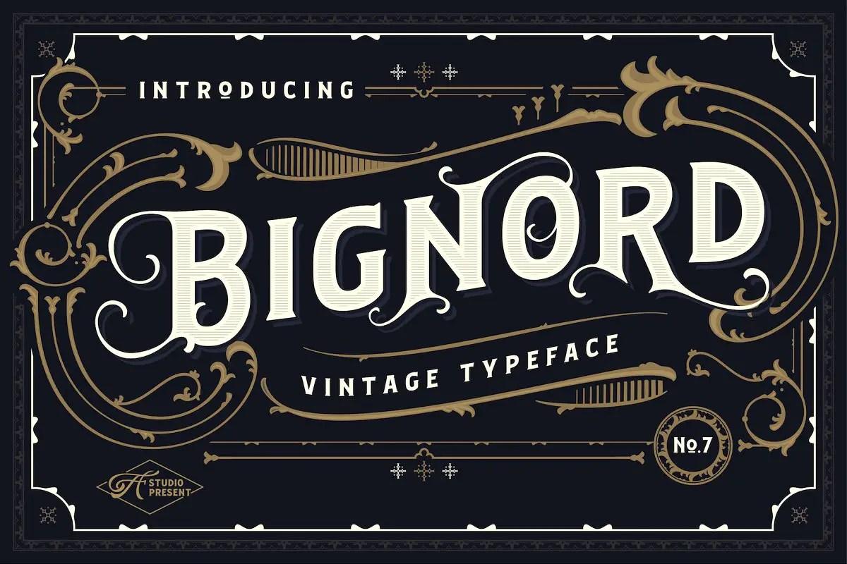 Bignord Vintage Serif Typeface-1