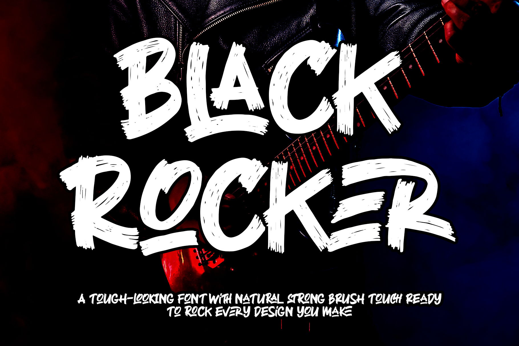Black Rocker Brush Font-1