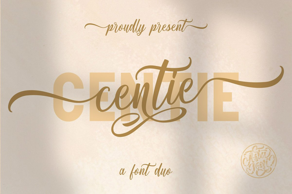 Centie Calligraphy Font Duo-1