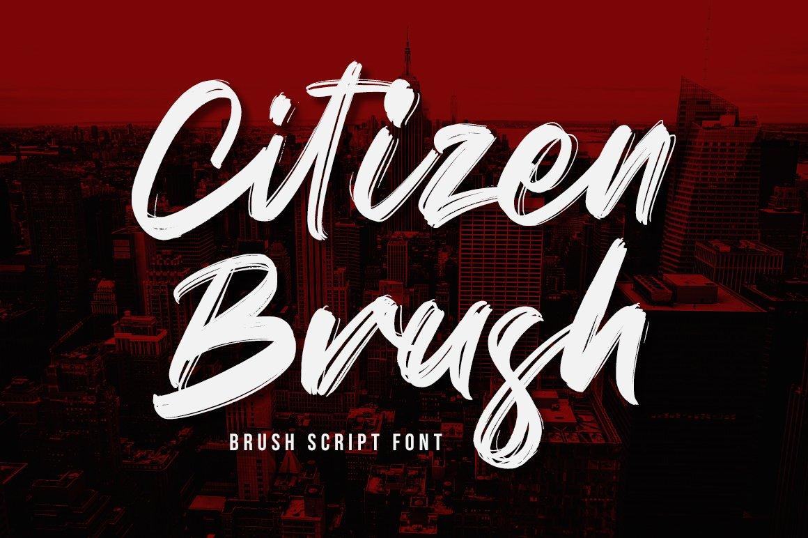 Citizen Brush Script Font-1