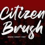 Citizen Brush Font
