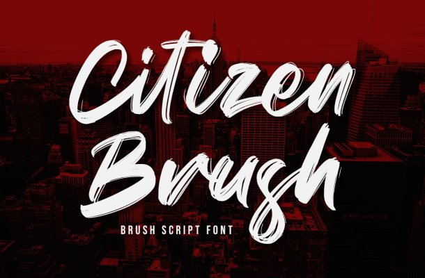 Citizen Brush Font