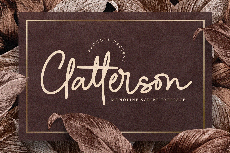 Clatterson Monoline Script Typeface-1