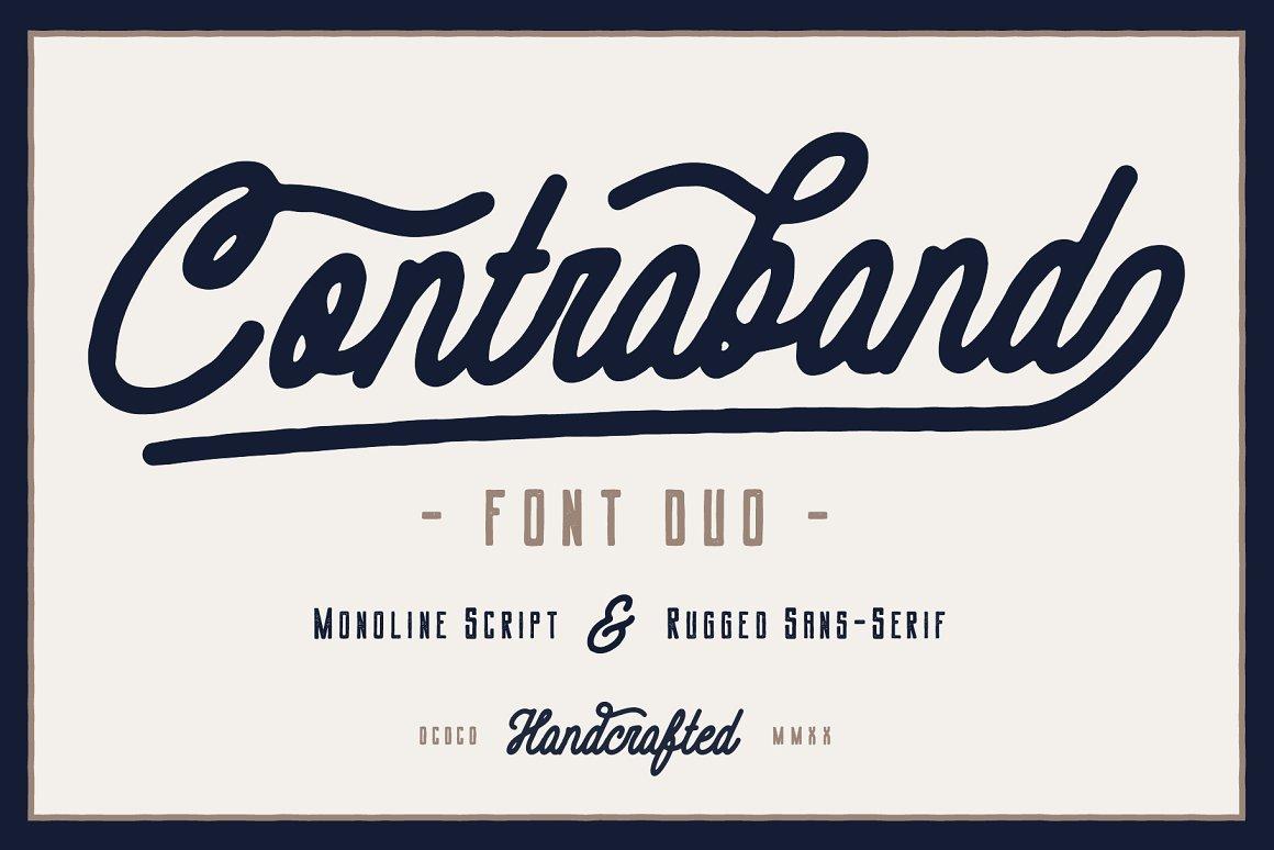 Contraband Script Font Duo -1