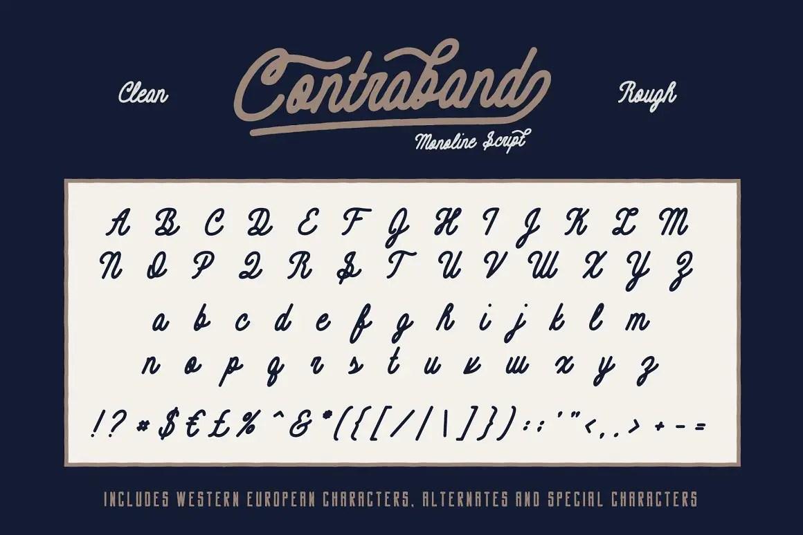 Contraband Script Font Duo -2