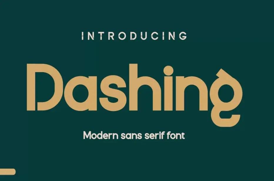 Dashing Modern Sans Serif Font-1