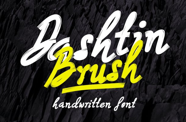Dashtin Brush Font