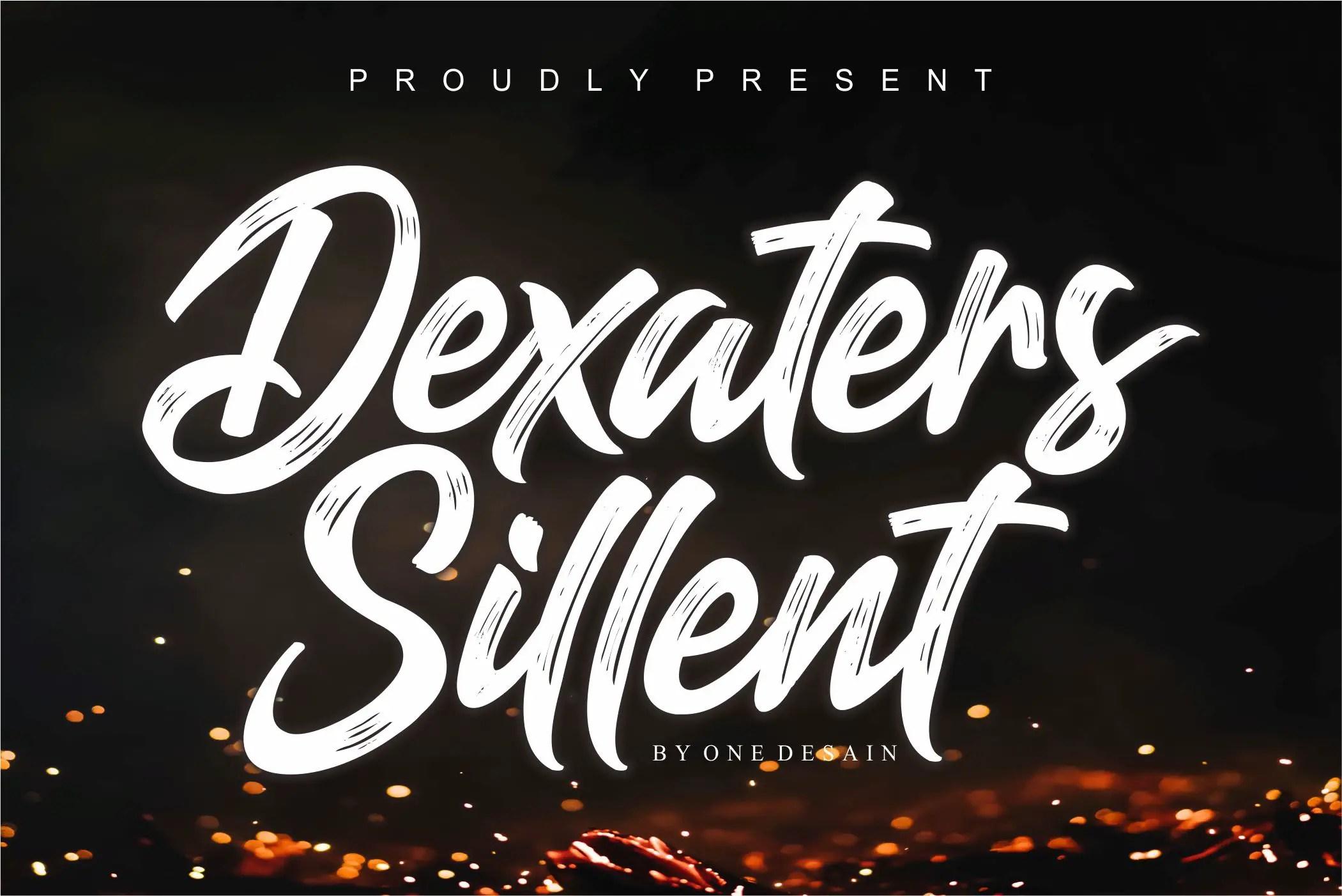 Dexaters Sillent ScriptBrush Font-1
