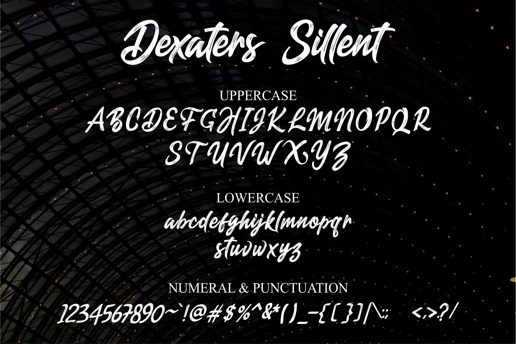 Dexaters Sillent ScriptBrush Font-3