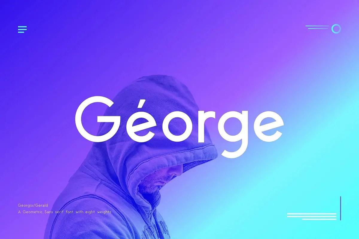 George Sans Geometric Typeface-1