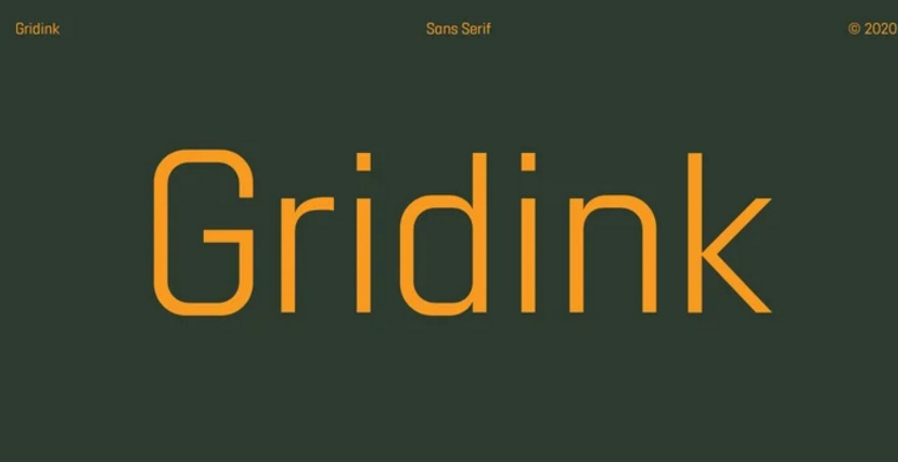 Gridink Sans Serif Font-1