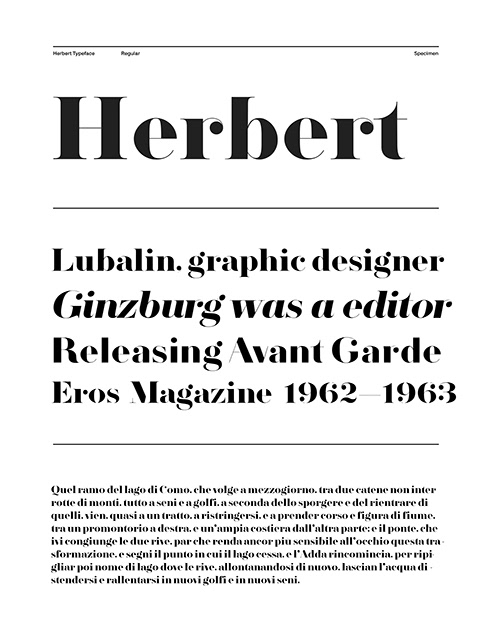 Herbert Serif Font-1