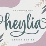Heylia Lovely Script Font