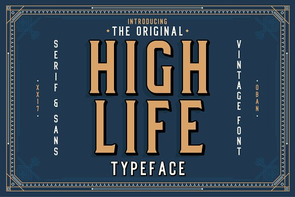 High Life Serif Typeface