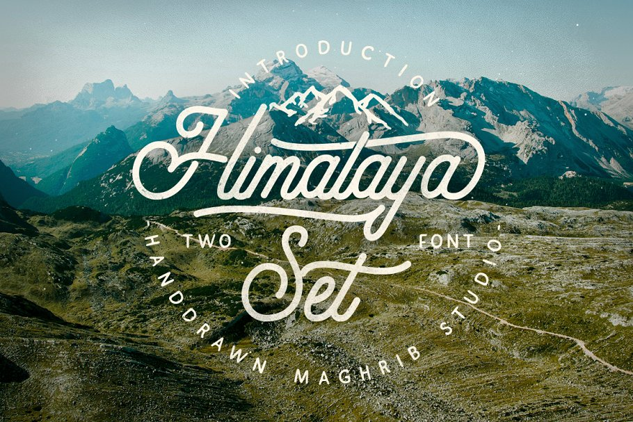 Himalaya Set Display Font-1