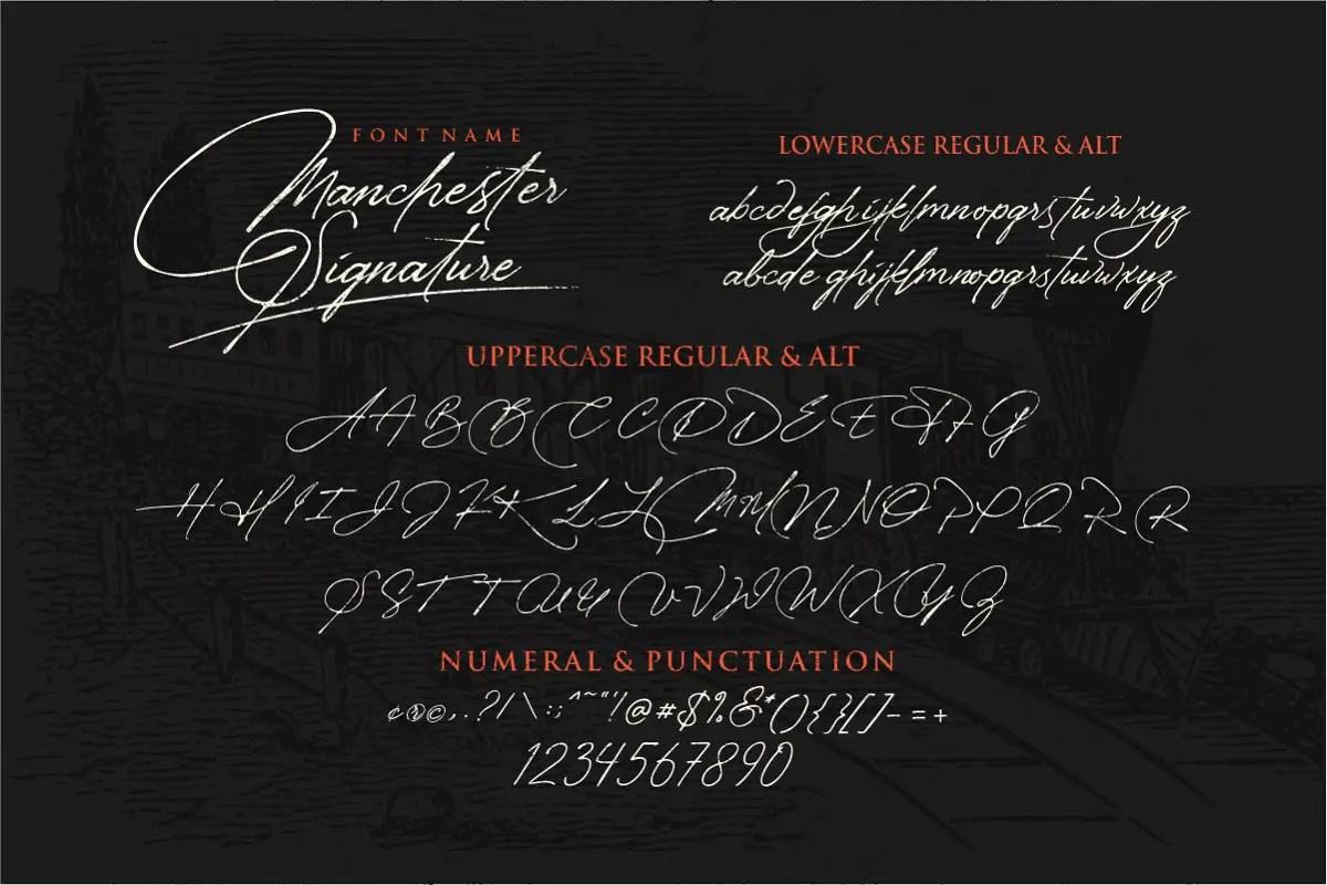 Manchester Signature Font-3