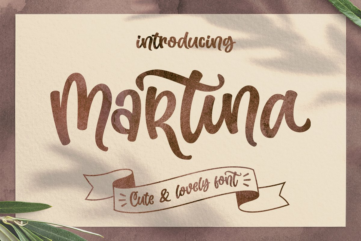 Martina Cute and Lovely Font-1