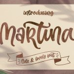 Martina Cute and Lovely Font