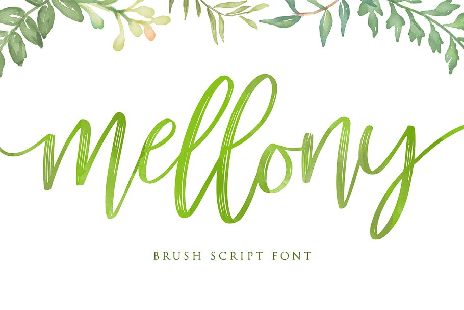 Mellony Brush Script Font-1