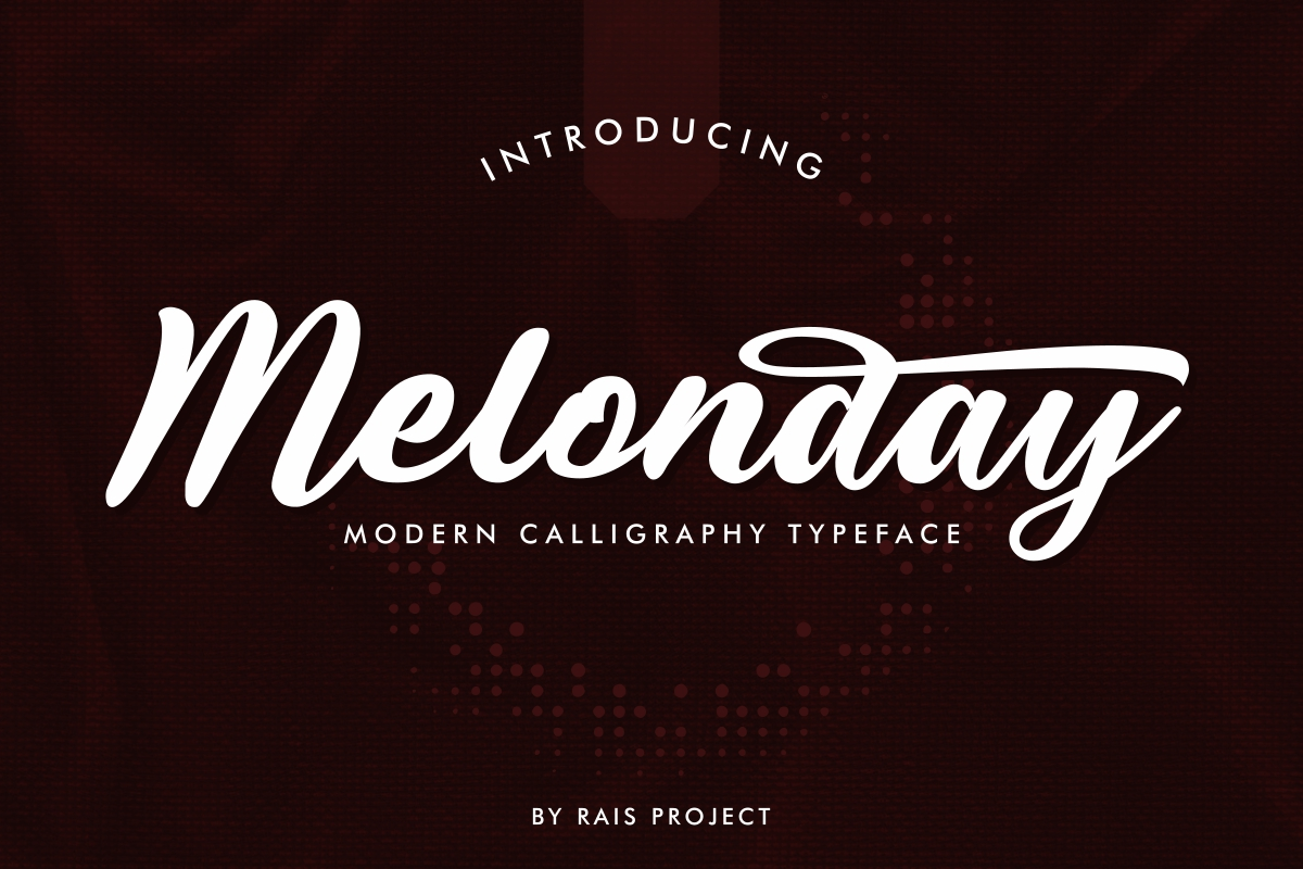 Melonday Script Calligraphy Font-1