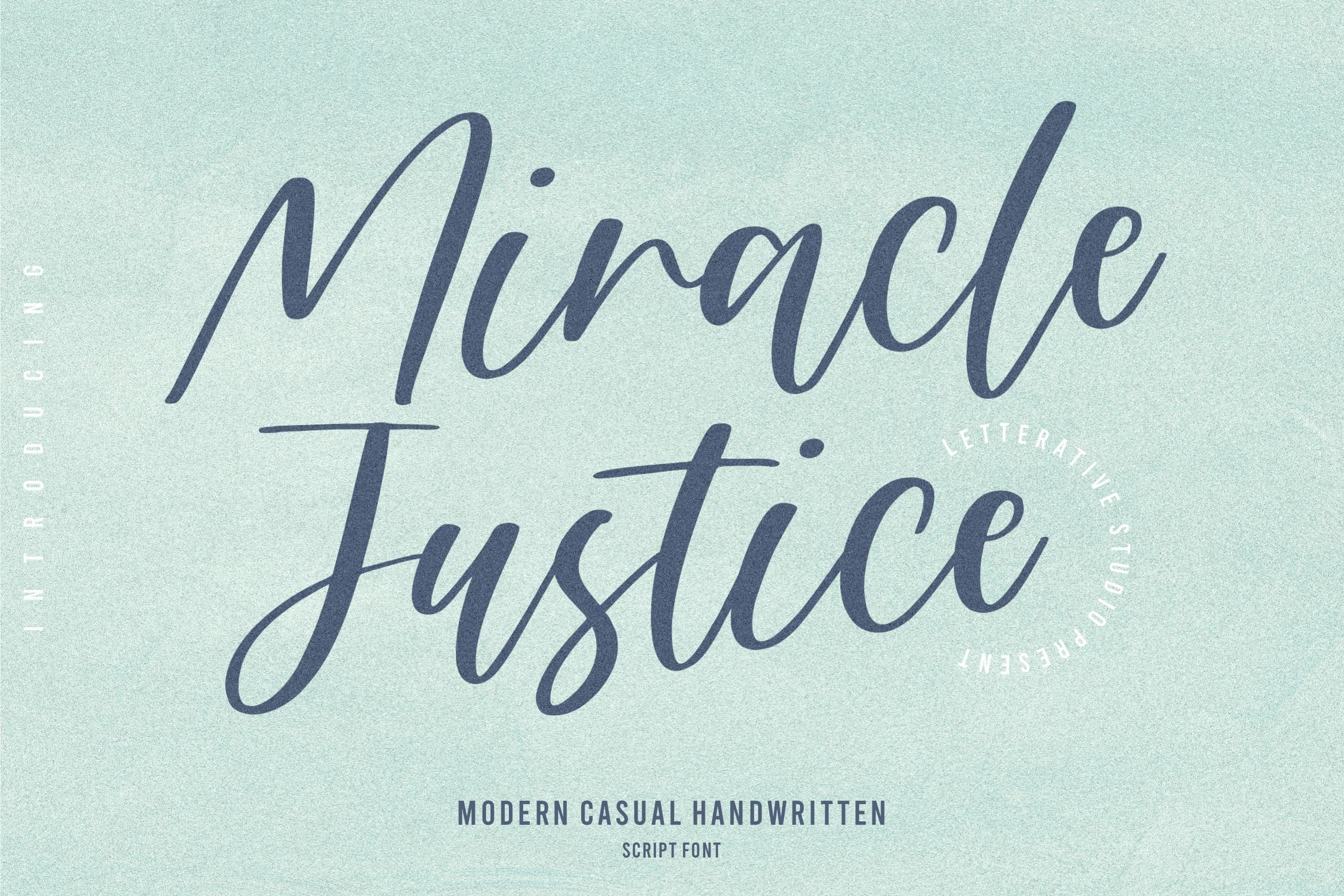 Miracle Justice Modern Casual Handwritten Font-1