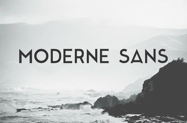 Moderne Typeface
