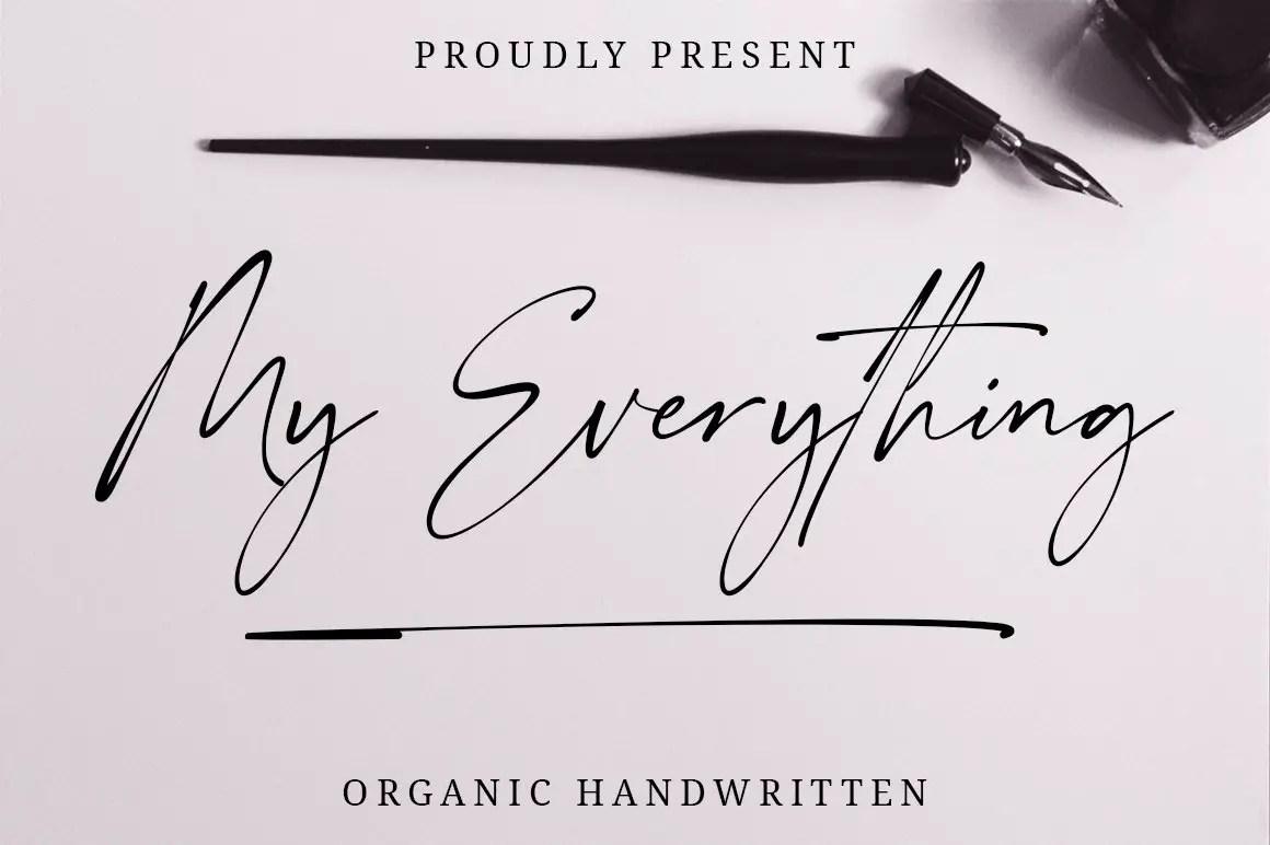 My Everything Script Handwritten Font-1