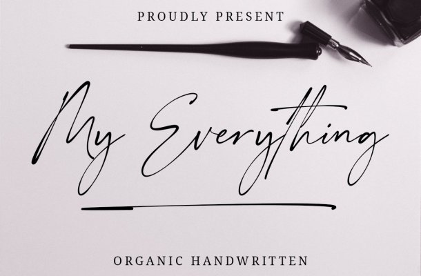 My Everything Script Handwritten Font