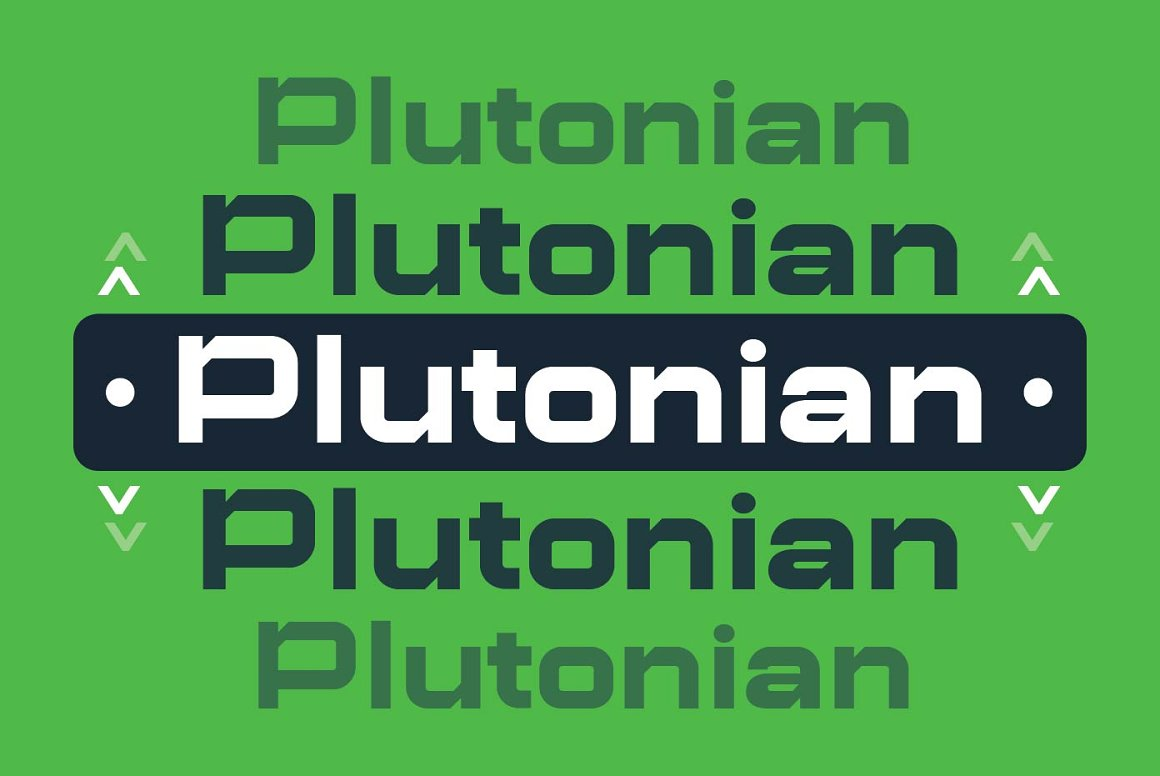 Plutonian Space Geometric Typeface-2