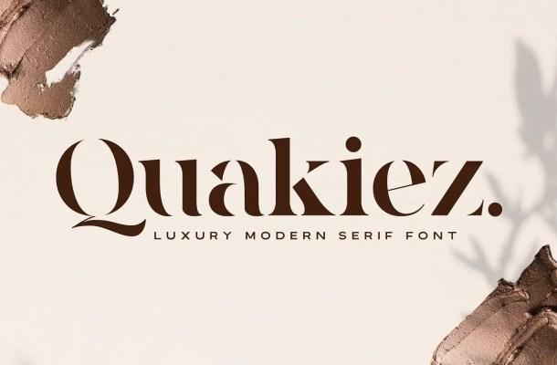 Quakiez Luxury Modern Serif Font