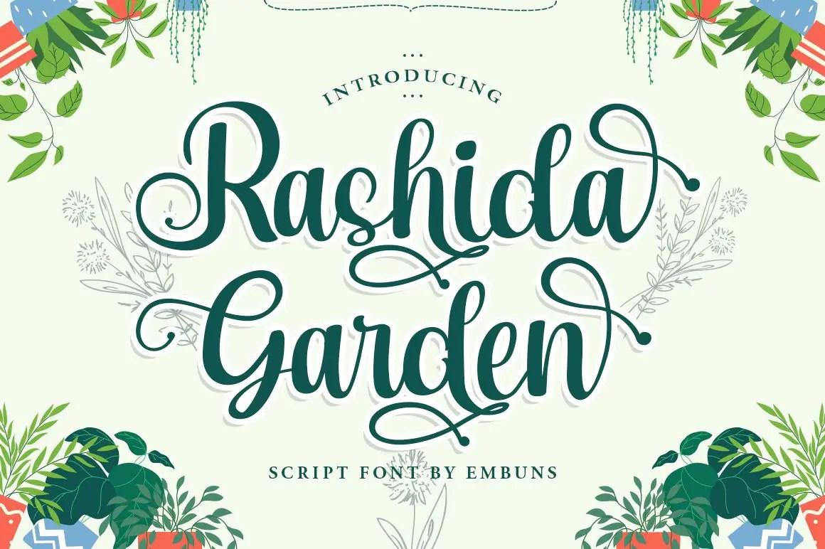 Rashida Garden Script Calligraphy Font-1