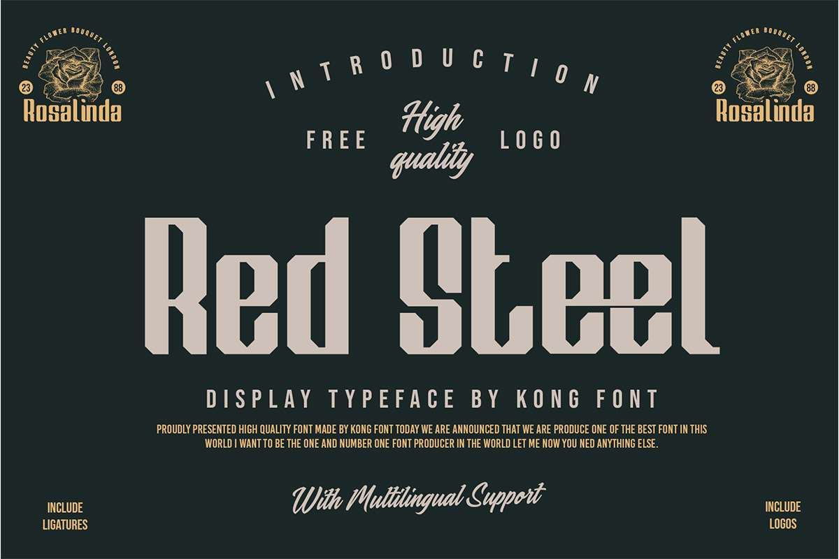 Red Steel Display Typeface-1