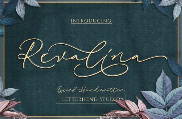 Revalina Signature Script Font