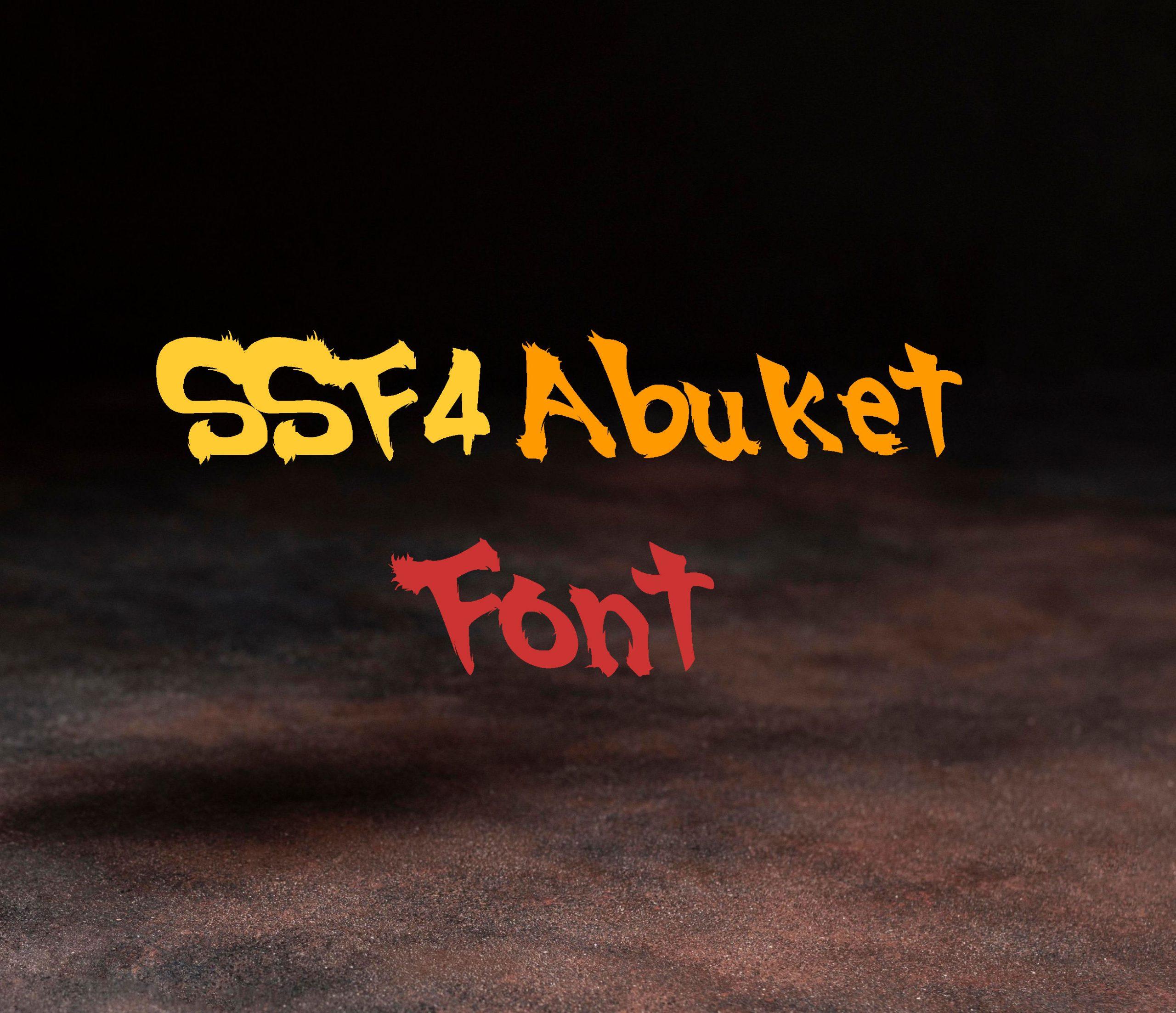 SSF4 Abuket Script Font -1