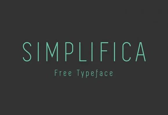 Simplifica Sans Serif Typeface