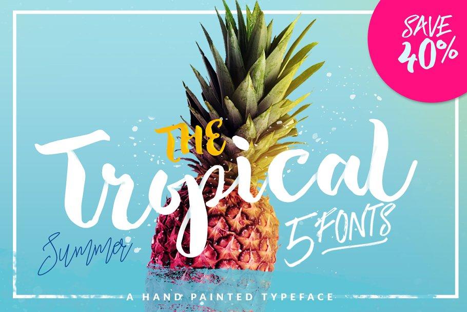 The Tropical Script Font-1