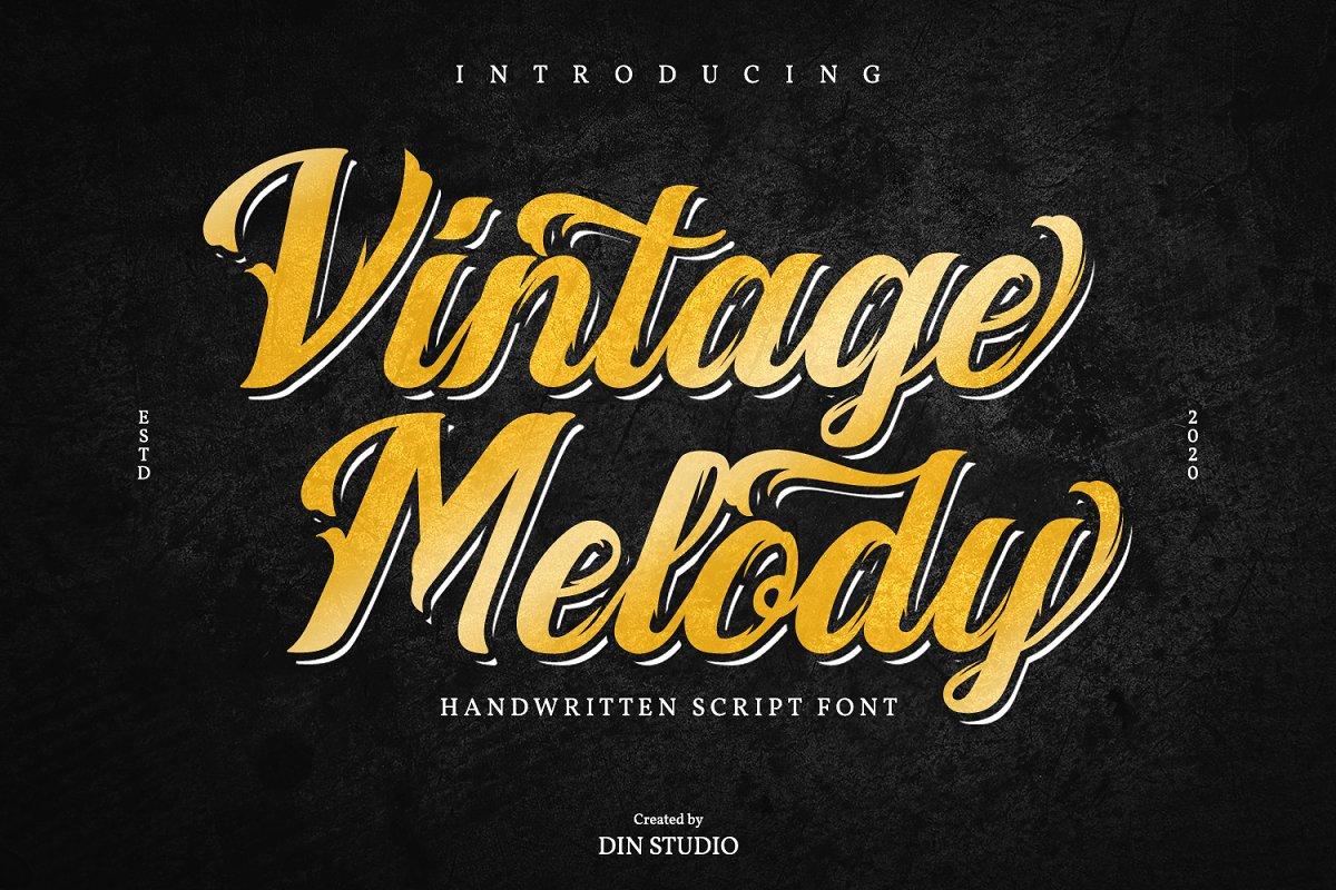 Vintage Melody Handwritten Font-1