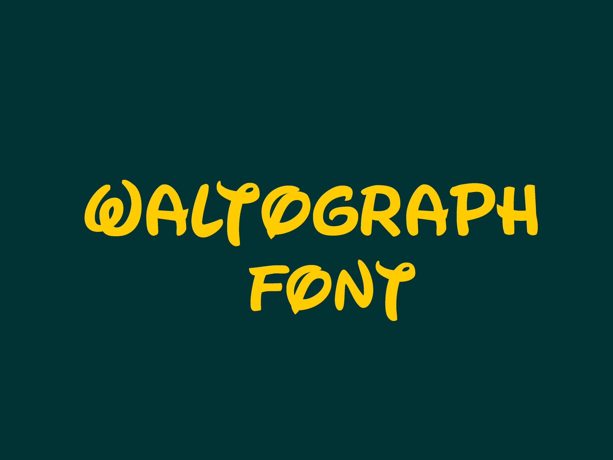 Waltograph Script Font-1
