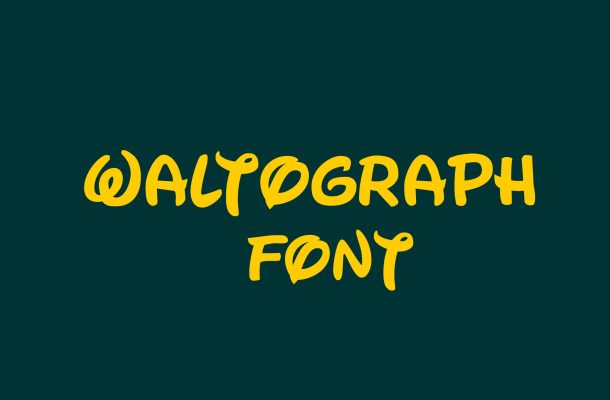 Waltograph Script Font