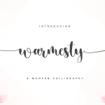 Warmesty Modern Calligraphy Font