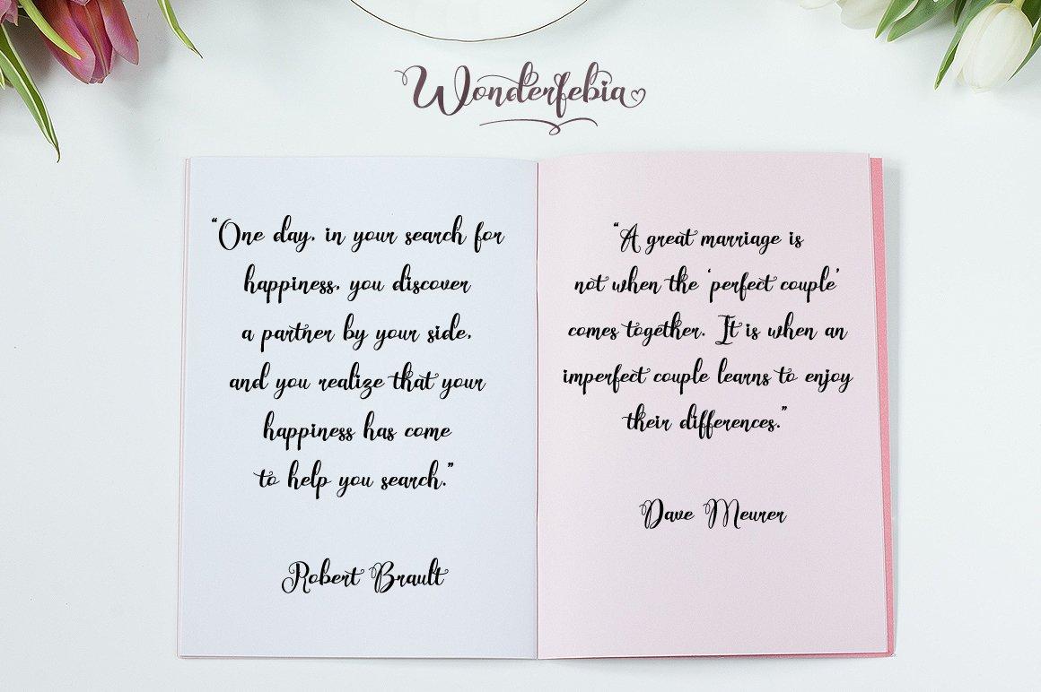 Wonderfebia Script Wedding Font-3