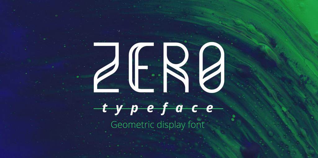 Zero Sans Serif Typeface-1
