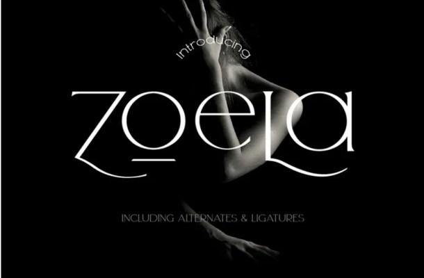 Zoela Elegant Serif Font