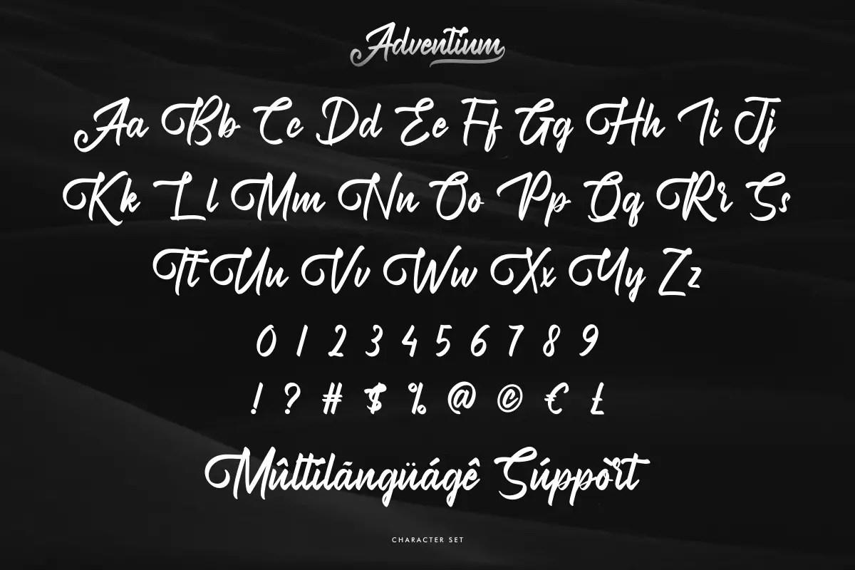 Adventium Modern Calligraphy Font -3