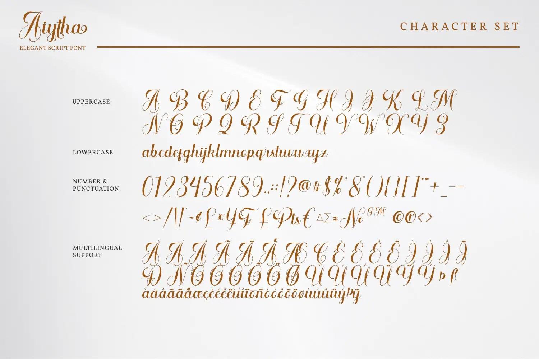 Aiytha Elegant Caligraphy Font -3