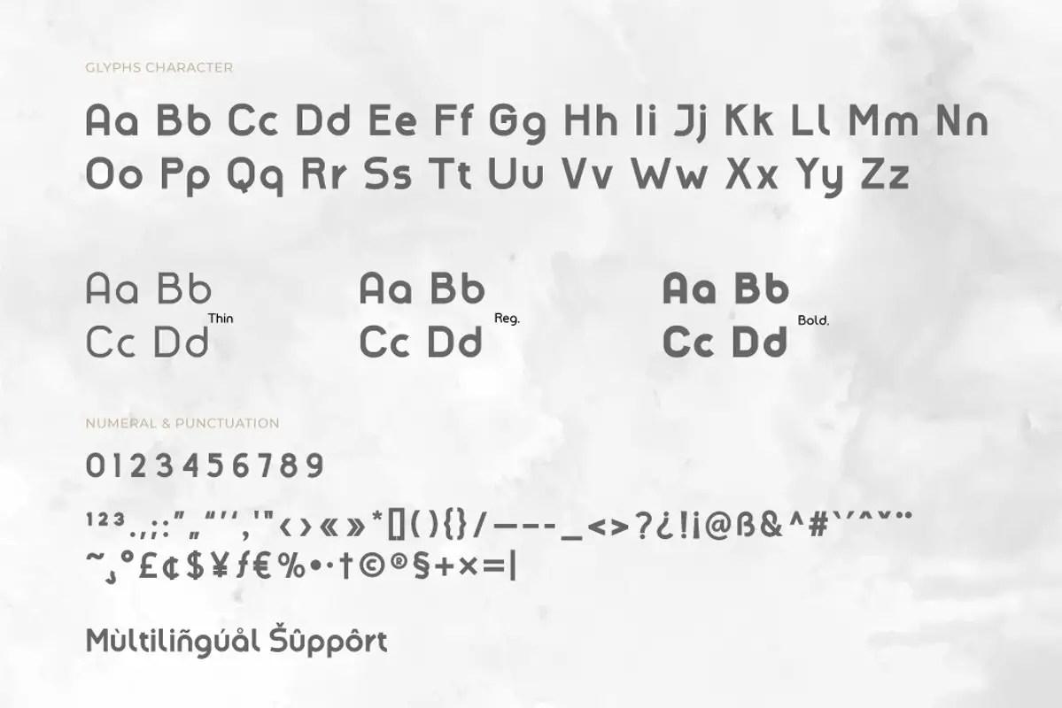 Amenable Sans Serif Font -3